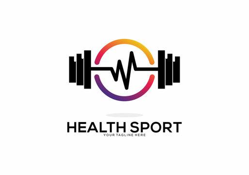 Health Sport Logo Vector Element Symbol