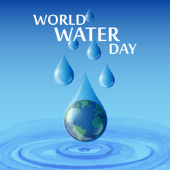 World Water Day Campaign. Suitable for creative  Greeting Card and Poster.