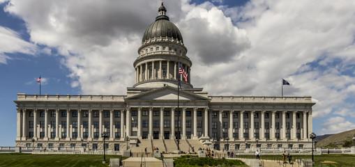 State of Utah Capital Building in springtime, Salt Lake City, Utah, USA.