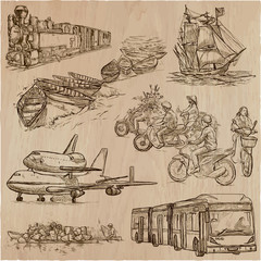Transport, Transportation around the World - An hand drawn vector collection.