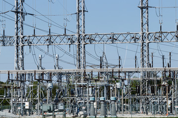 Dangerous High Voltage Electrical Power Substation X