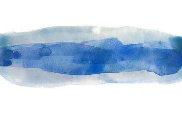 watercolour strip background blue uneven edges