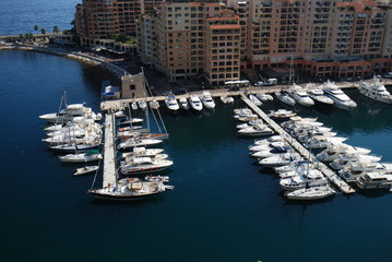 Port de Fontvieille; marina; water transportation; dock; harbor