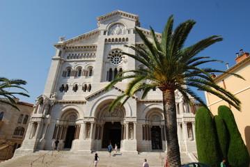 Saint Nicholas Cathedral; Monaco; Saint Nicholas Cathedral; palm tree; arecales; historic site; tourist attraction
