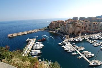 Port de Fontvieille; marina; sea; port; city