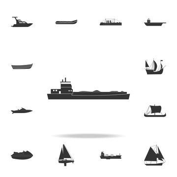 barge ship icon. Detailed set of water transport icons. Premium graphic design. One of the collection icons for websites, web design, mobile app