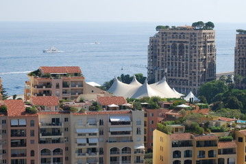 Port de Fontvieille; city; sky; urban area; sea