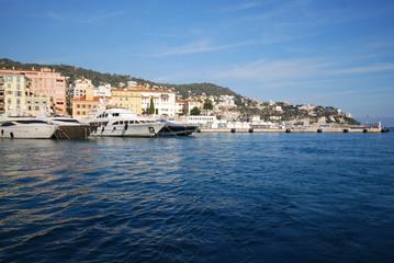 Port of Nice; Promenade des Anglais; sea; sky; water; coast