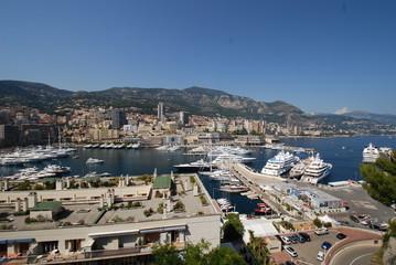 Monte-Carlo; town; aerial photography; sea; cityscape