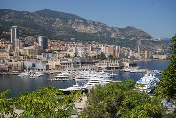 Port de Fontvieille; Monte-Carlo; town; river; aerial photography; lake