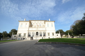 Galleria Borghese; landmark; sky; estate; mansion