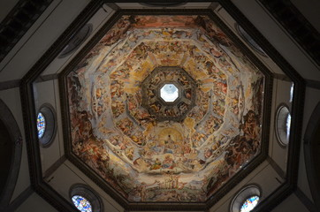 Florence Cathedral; Florence; dome; ceiling; building; symmetry