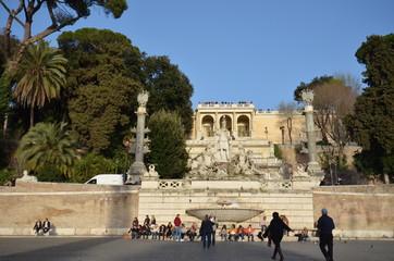 Piazza del Popolo; landmark; plaza; human settlement; town square