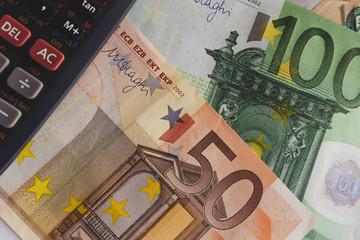 Euro money concept. Macro