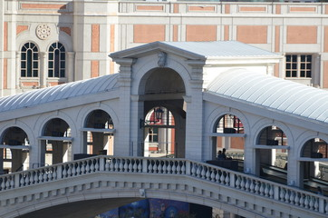 The Venetian; landmark; building; structure; arch