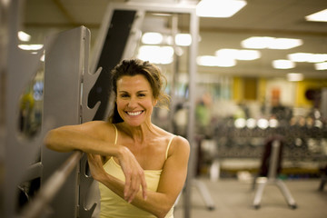 Portrait of a smiling mid-adult woman at the gym.