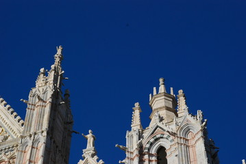 Siena Cathedral; spire; landmark; tower; place of worship