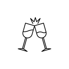 glasses clink glasses icon. Element of Succes and awards for mobile concept and web apps. Detailed glasses clink glasses icon can be used for web and mobile. Premium icon