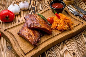 Pork ribs fried