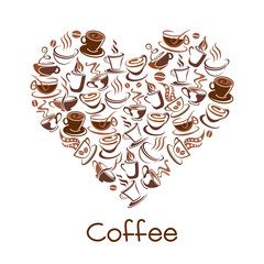 Cup of coffee vector sign