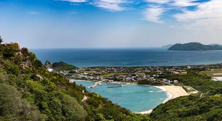view from mount Tateishi in Fukuoka, Japan
