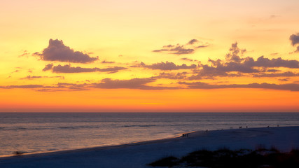 Beautiful sunset at Lido Beach Sarasota