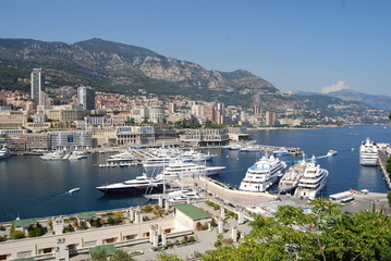 Monte-Carlo; Port de Fontvieille; marina; harbor; city; sea