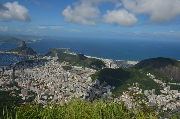 Botafogo Beach; Lagoa; sky; cloud; promontory; mount scenery