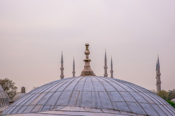 Exterior far view of Sultan Ahmet Mosque or Blue Mosque