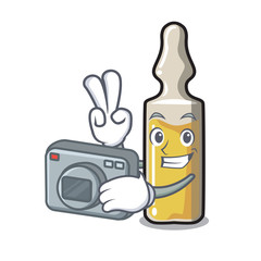 Photographer ampoule mascot cartoon style