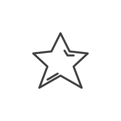 Star outline icon. linear style sign for mobile concept and web design. Favorite simple line vector icon. Symbol, logo illustration. Pixel perfect vector graphics
