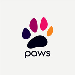 Paw Logo Designs Template