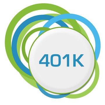 Retirement 401K Random Green Blue Rings
