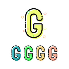 Letter g Children font in mbe style