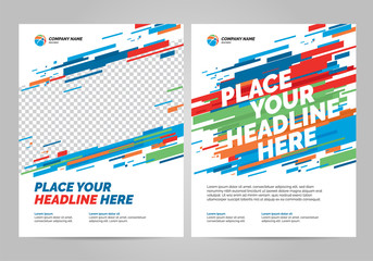 Flyer design sports invitation template. Can be adapt to Brochure, Annual Report, Magazine, Poster.