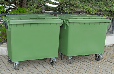 big garbage containers