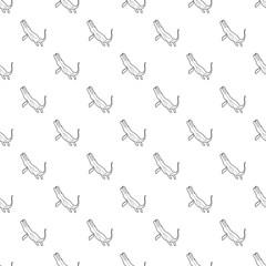 Underwater dinosaur car pattern vector seamless