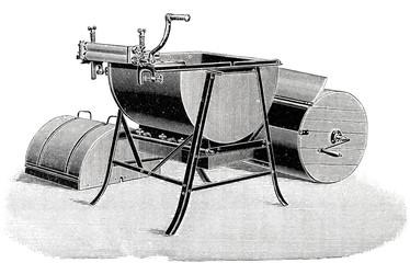 Waschmaschine in Einzelteilen