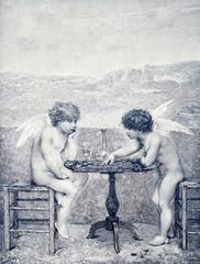 Zwei Engel spielen Dame