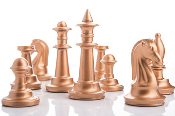 chess peaces isolated