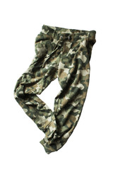 Military pants isolated