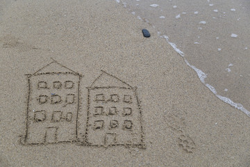real estate and mortgage investment. drive a house on the sand in the beach.Being an easy way homeowner.