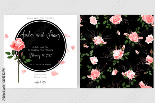 Save the date card wedding invitation greeting card with beautiful save the date card wedding invitation greeting card with beautiful flowers and letters m4hsunfo