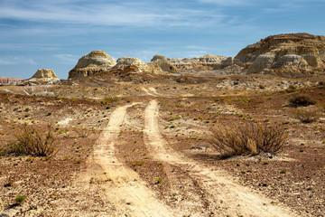 Desert place in eastern Kazakhstan