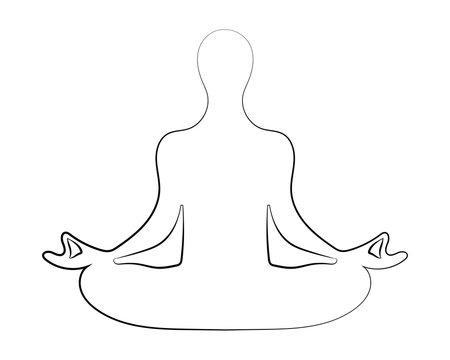 Meditation silhouette vector illustration