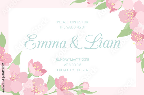 Wedding Marriage Invitation Card Template Horizontal Landscape