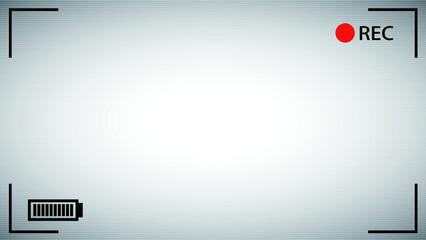 HD Camera viewfinder White background