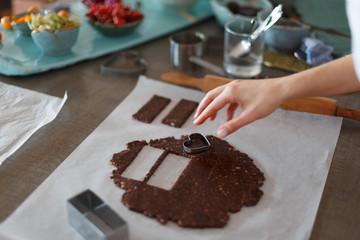 Patry chef making veegan cookies