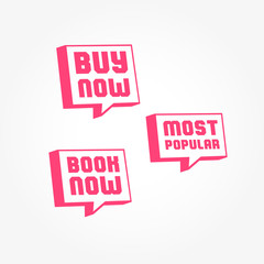 Buy Now, Most Popular & Book Now Tags