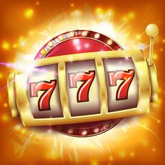 Casino Slot Machine Banner Vector. Sevens Jackpot Concept. Spin Object. Illustration